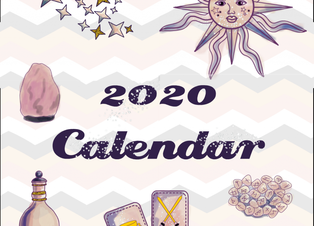Free Printable 2020 Tarot Planner Calendar