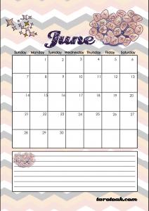 June 2020 Planner Calendar