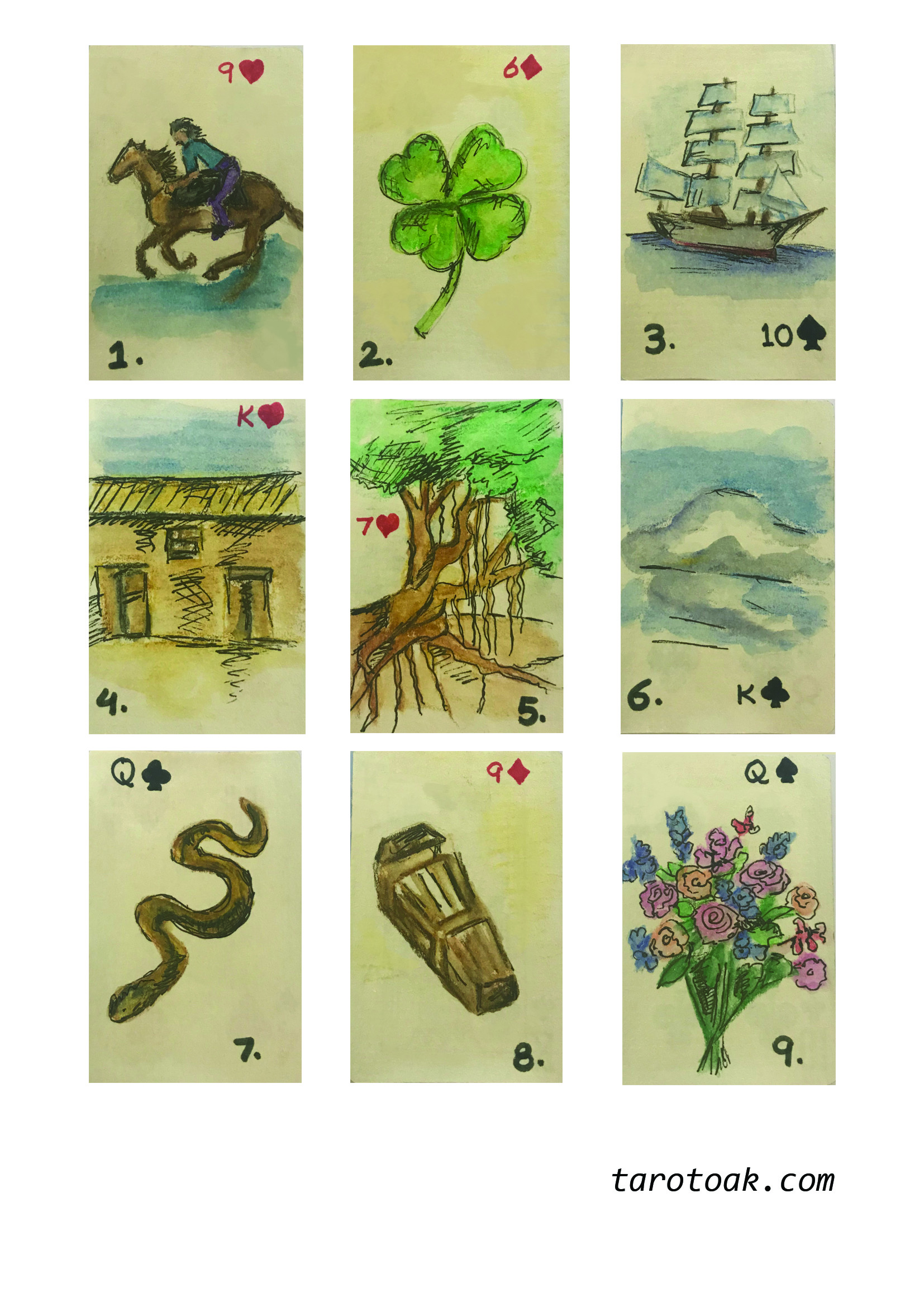 Free Printable Deck Of Lenormand Cards