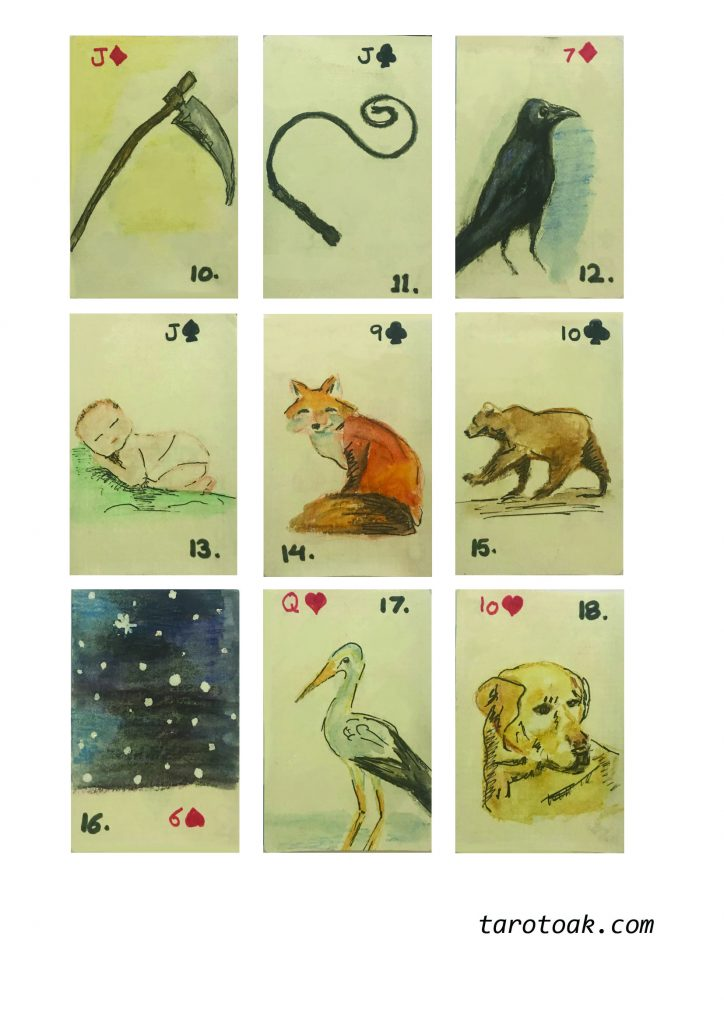 Free Printable Lenormand Cards Deck Sheet 2