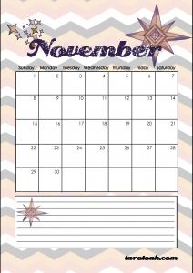 November 2020 Calendar Page