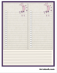 Free Printable Tarot To-Do Lists