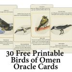 30 Free Printable Birds of Omen Oracle (Fortune Telling) Cards