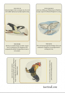 Birds of Omen Oracle cards printable