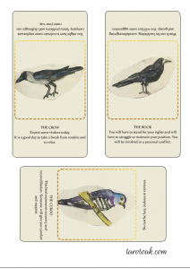 Birds of Omen Cards to print