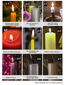 Free Printable Candle Oracle Cards