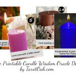 Free Printable Candle Wisdom Oracle Deck
