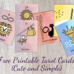 Free Printable Tarot Cards ( Cute and Simple ) 78 Cards