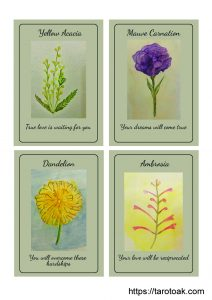 Free Printable Flower Power Oracle Cards Page 1