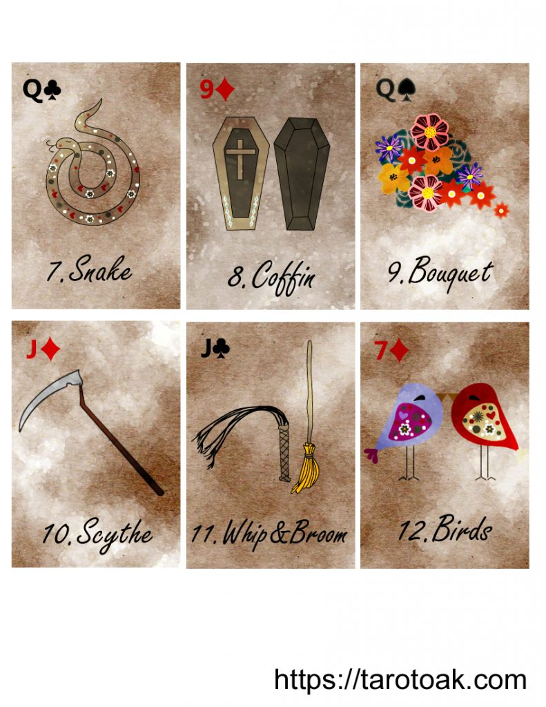 Free Printable Lenormand Cards Sheet 2