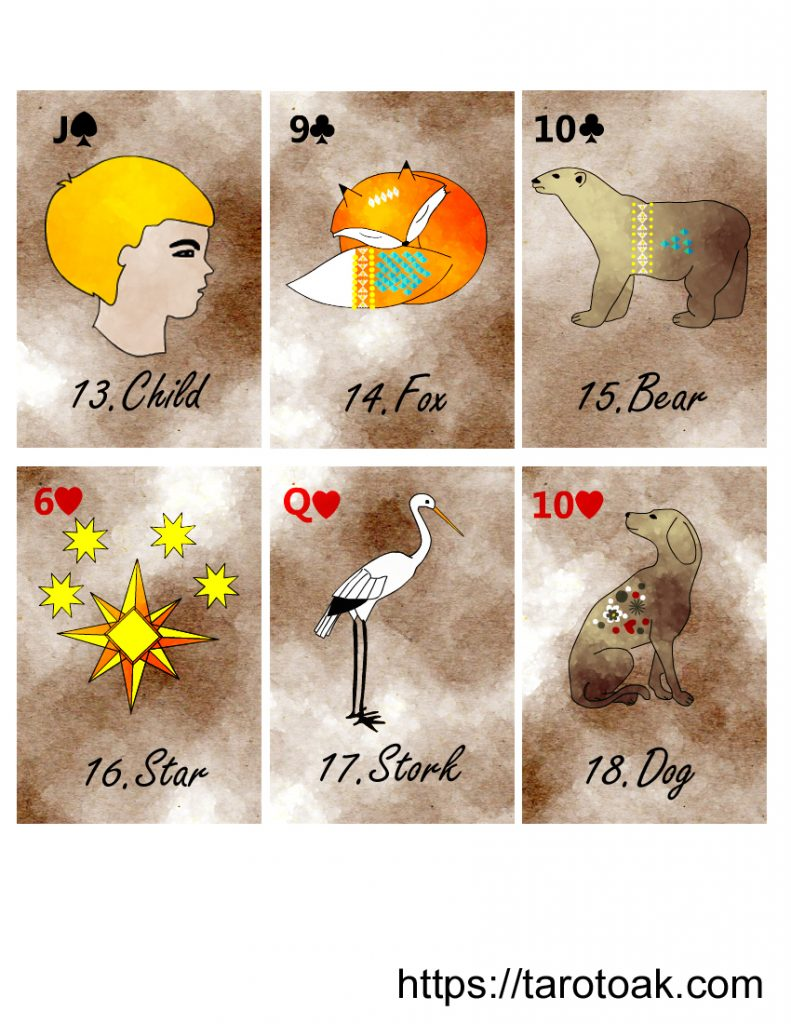 Free Printable Lenormand Cards Sheet 3