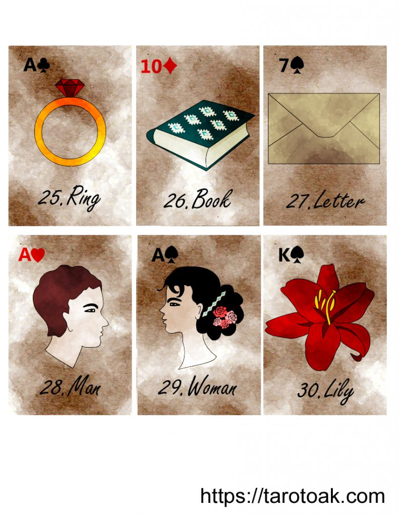 Free Printable Lenormand Cards Sheet 5
