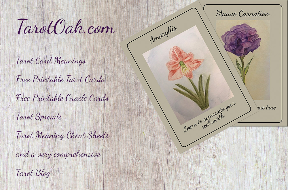 Tarot Card Meanings, Free Printable Tarot Cards, Printable oracle cards