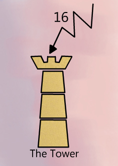 The tower tarot birth card