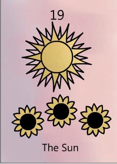 The sun tarot birth card