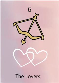 The lovers birth tarot card