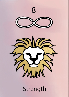 The strength tarot birth card